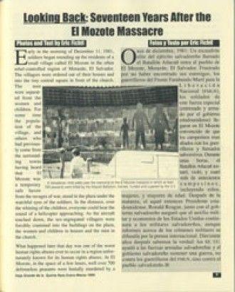 a victims account of the infamous massacre at el mozote