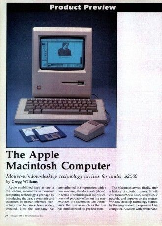 Статья о первом Apple Macintosh
